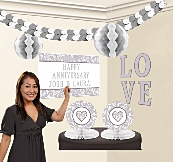Silver Party Personalised Decoration kit